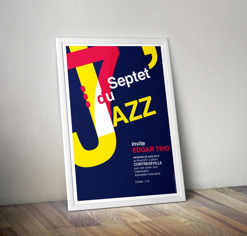 affiche graphiste jazz strasbourg alsace